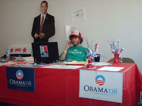 Seth Bannon as an organizer on Barack Obama's 2008 campaign for President in Ohio.